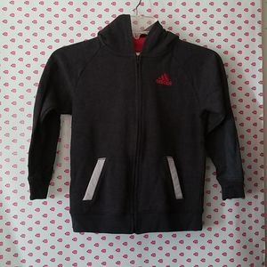 Adidas, boys size 7, zip up hoodie